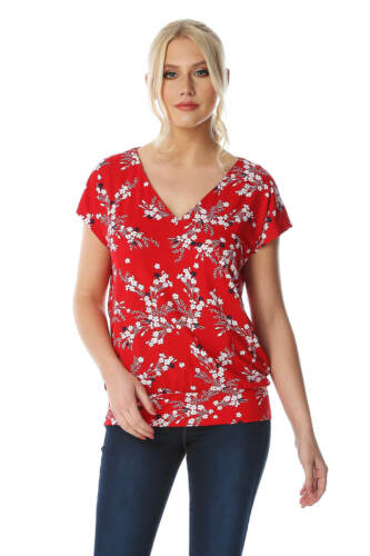 Roman Originals Women Oriental Floral Top