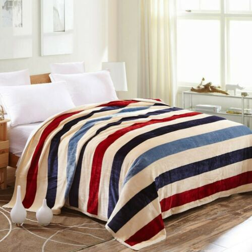 Super Soft Home Warm Solid Micro Plush Fleece Blanket Throw Rug Sofa Bedding