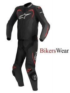 Alpinestars-GP-Pro-2-Pc-2-Piece-race-leather-suit-Black-Red-was-850