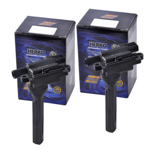 Set of 2 Herko B038 Ignition Coils For Chevrolet Suzuki L4 1.3 1.6 1999-2001