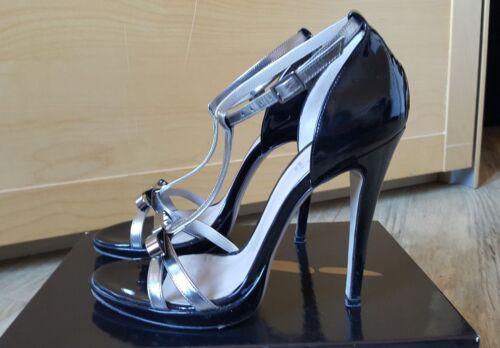 A Spillo 1 Argento Donna Eleganti Tacco 2 39 6 E Icone Sandalo Uk Nero Vernice xy8wRWUqgy