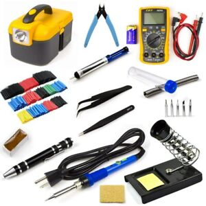 110V 60W Electric Soldering Iron Gun Welding Tool Kit Set Multimeter Adjustable