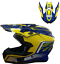 PULSE-MOTOCROSS-MX-ENDURO-QUAD-OFF-ROAD-DIRT-BIKE-HELMET-PX3-BLUE-amp-YELLOW thumbnail 1