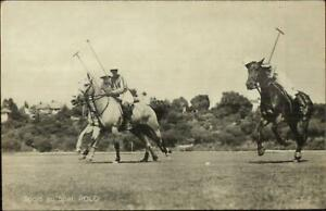 Sports-Polo-Horses-amp-Players-Publ-in-Amsterdam-Real-Photo-Postcard