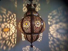 Lustre plafonnier marocain fer forgé lampe applique lanterne oriental 50 cm 3S