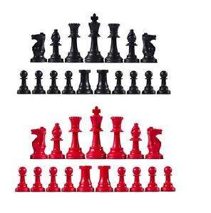 Image Is Loading Staunton Triple Weighted Chess Pieces Full Set 34