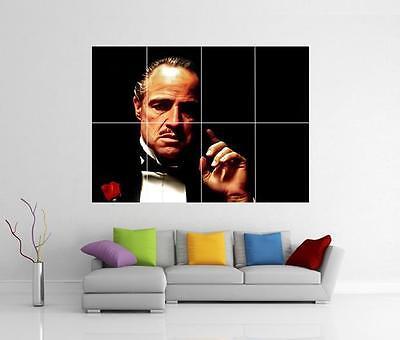 New The Godfather Classic Mafia Marlon Movie Custom Poster Print Art Decor T-614