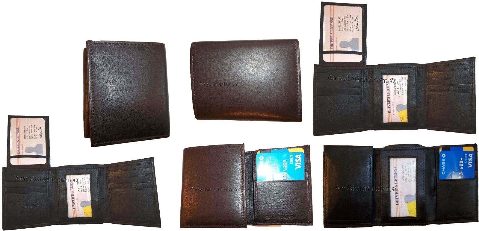 Lot Of 12 Neu Dreifach Faltbar Faltbar Faltbar Leder Herren Portemonnaie 2 Identifikation 2 | New Style  060ab9