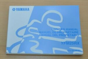 Ehrgeizig Yamaha Yfm25rx Yfm 25 Rx Owners Manual Bedienungsanleitung Brakes Engine 2007 Rabatte Verkauf Anleitungen & Handbücher