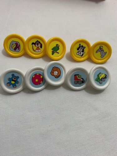 game replacement parts pieces pad movers 3-d U-PICK 1998 CLUE JR