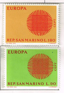 San Marino Europe set 1970 MNH