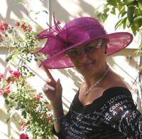 Damenhut eleganter Anlasshut Hochzeit Ascot Fest Hutball Damenhüte Hut Trauer