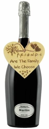 Friends Are The Family We Choose Oak Wooden Hanging Heart Friendship Plaque Gift
