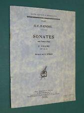 "Partition Violon acc. piano ""Sonates"" 1er volume (n° 1-2-3)  G. F. HAENDEL"