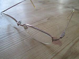 15b97313b14 Image is loading Karen-Millen-pink-metal-semi-rimless-glasses-frames-