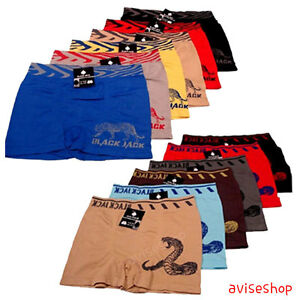 Mens Stretch One Size Boxer Briefs Underwear Fashion Trunk Short Bulge Panties
