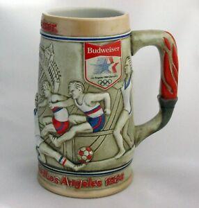 Vintage Budweiser 1984 Los Angeles Olympics Gymnastics Track Field Beer Stein 3D