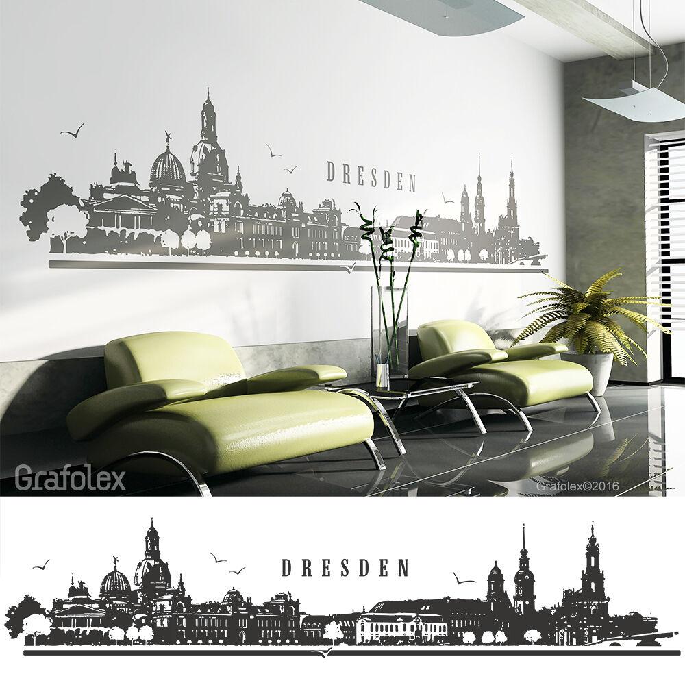Dresde skyline murales parojo Pegatina de parojo Sticker Adhesivo 4 tamaños w114a
