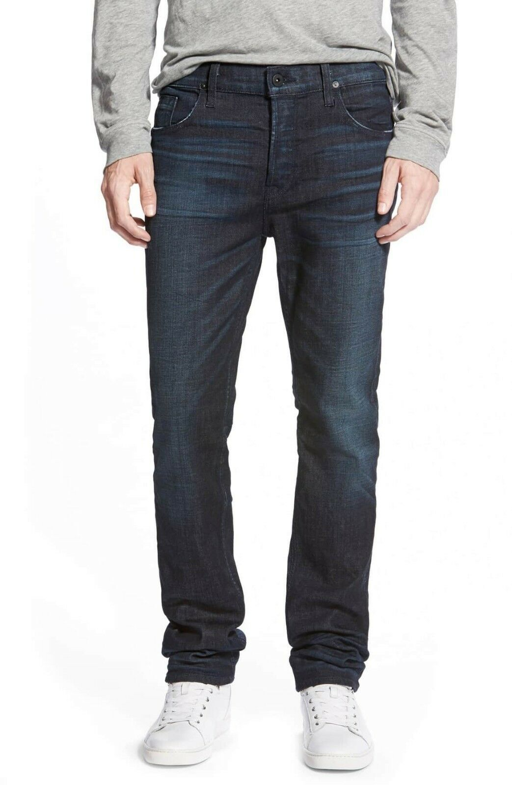 Hudson men's Sartor Slouchy Skinny Jean wash peacekeeper indigo bluee size  32