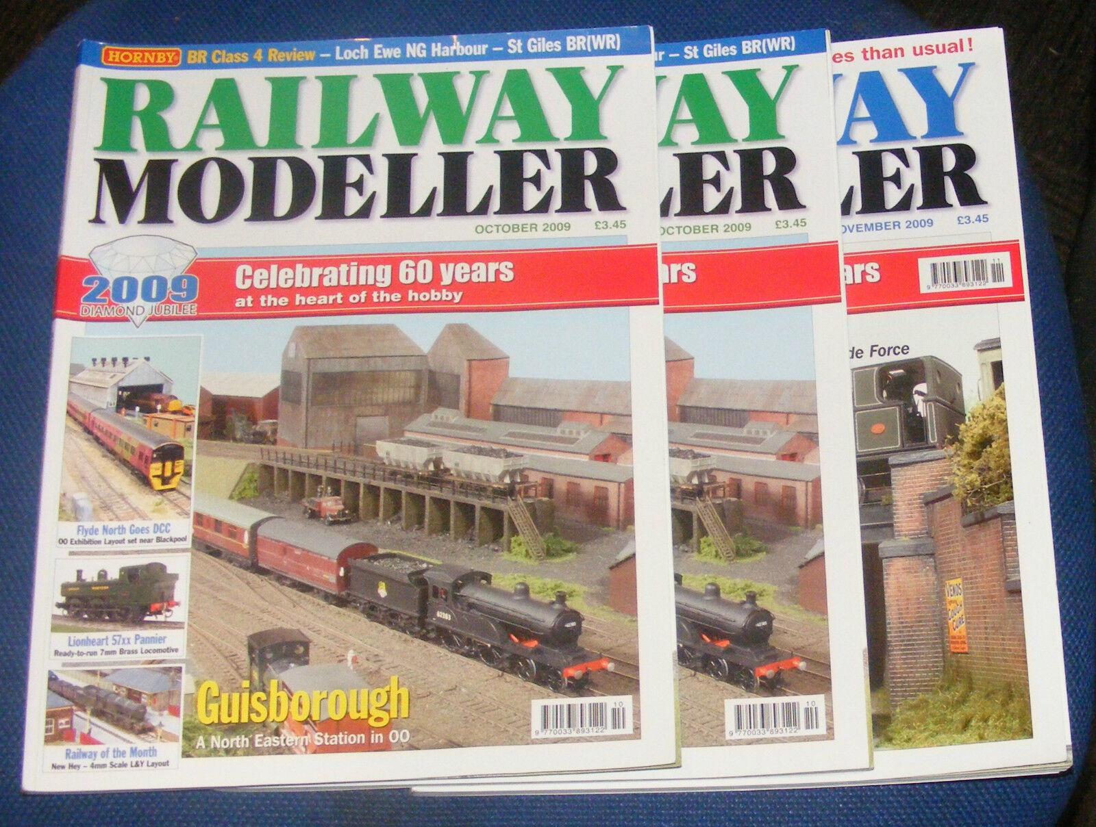 RAILWAY MODELLER MAGAZINES VARIOUS ISSUES 2009