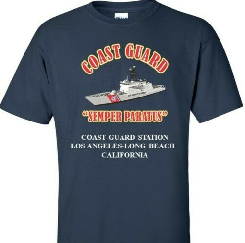 CA *COAST VINYL PRINT SHIRT//SWEAT COAST GUARD STATION LOS ANGELES-LONG BEACH