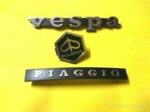 VESPA PIAGGIO PX LML LEGSHEILD HEXAGON HORNCAST DECAL BADGE MONOGRAM LOGO