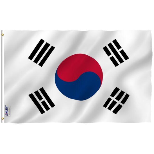anley south korean flag south korea banner polyester 3x5 foot
