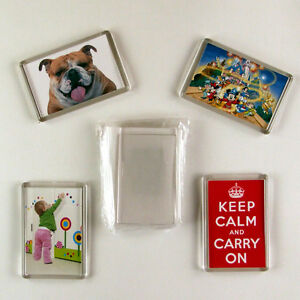 10  BLANK photo DIY 70x45 make your own fridge magnets