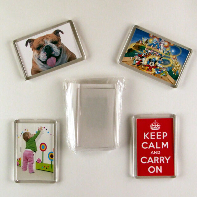 10 blank photo diy 70x45 make your own fridge magnets ebay
