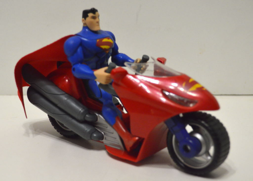 Mattel SUPERMAN 5  Action Figure w SUPERCYCLE 2012 DC Comics