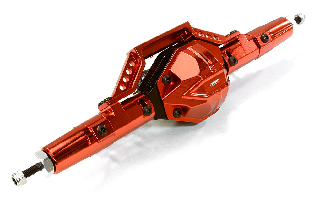 C26672rosso Integy Billet T6 Rear Axle for Axial 1 10 SCX-10, Dingo, Honcho & Jeep