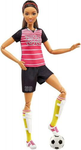 Barbie Made to Move Soccer Player Doll Brunette