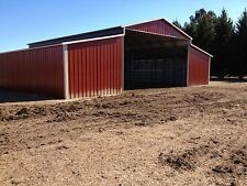 Steel Barn for Stables HORSE BARN 42'x36' Metal Building FREE SETUP AND DELIVERY