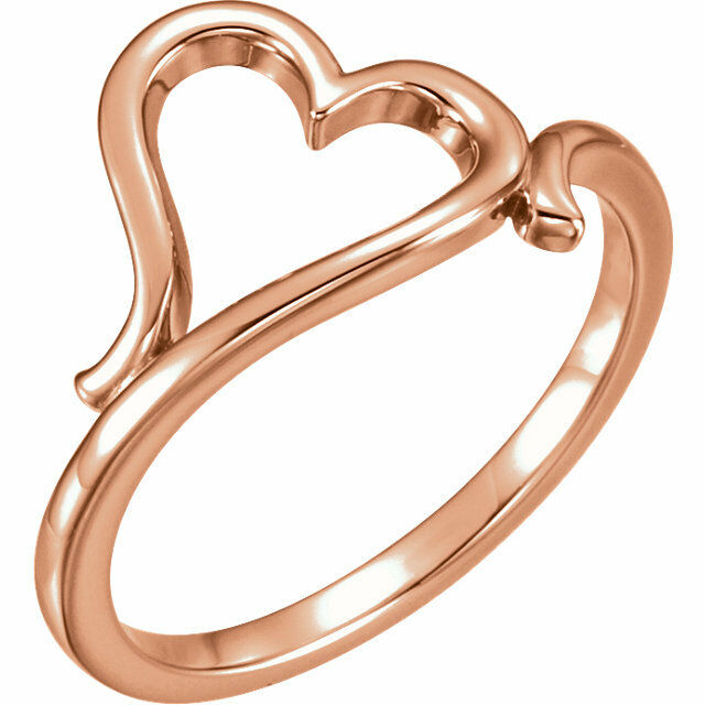 Heart Ring In 14K pink gold