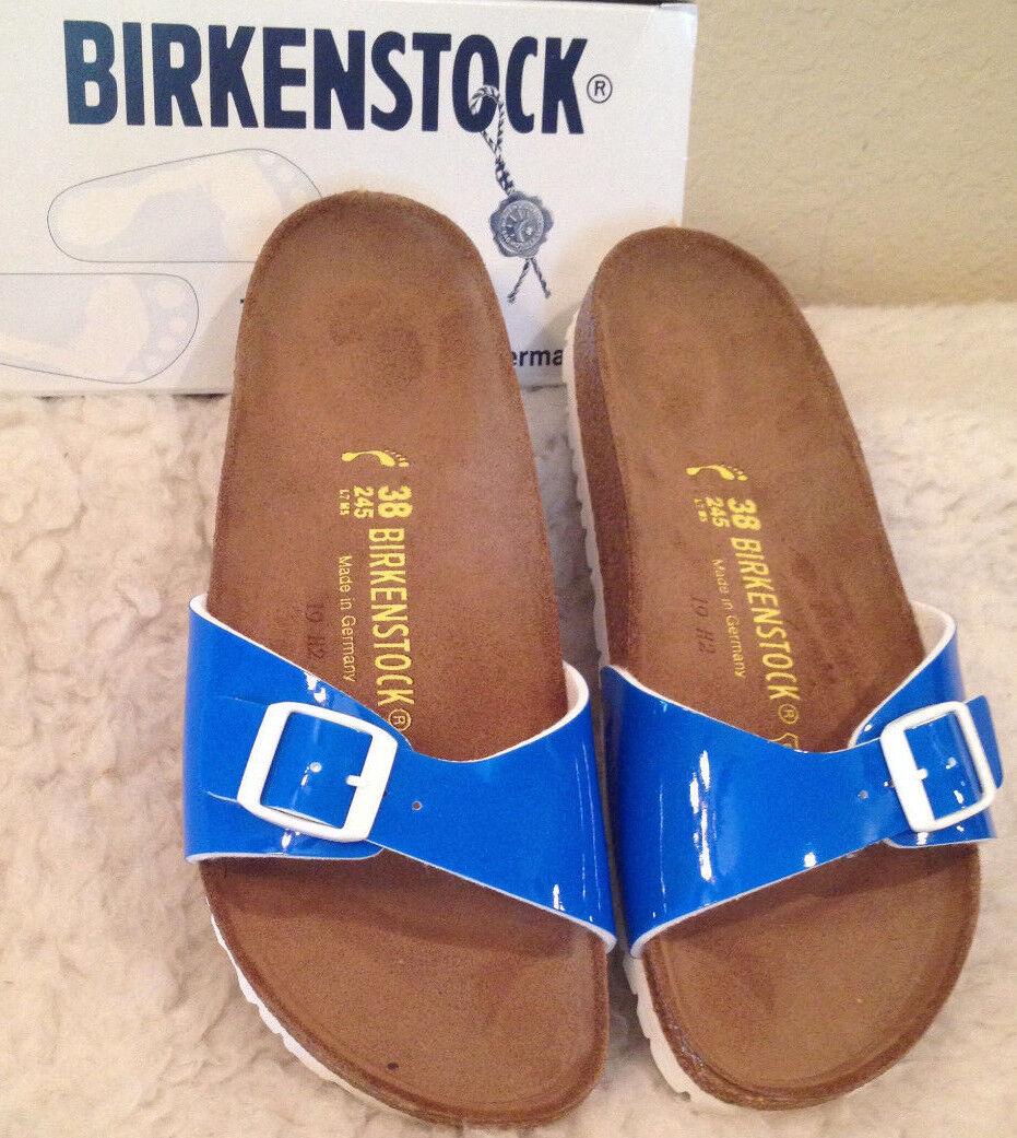 NWT BIRKENSTOCK Sandales Madrid NEON Blau PATENT Sandales BIRKENSTOCK Schuhes Sz 41 Damenschuhe 10 - 10  1/2 bdae80