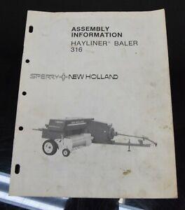 New Holland Hayliner Baler 316 Assembly Information Owner's Operator's Manual