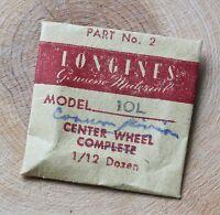 Vintage Longines 10l Movement Cannon Pinion Swiss Watch Part Longines 10.68z