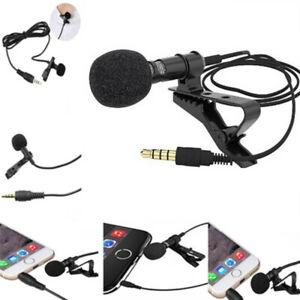 Lavalier-Mic-Microfono-per-iPhone-Smart-Phone-Registrazione-PC-Clip-on-bavero