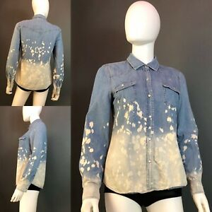 Vanilla-Star-Acid-Wash-Denim-Shirt