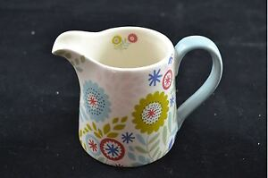 Gisela-Graham-Pais-Floral-Cocina-Ceramica-Leche-Crema-JARRA-JARRoN-Hogar