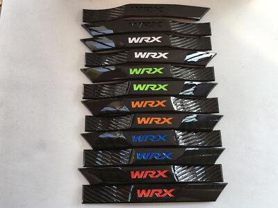 Glossy Black WRX Fender Badge Left/&Right Side Molding Fit 08-14