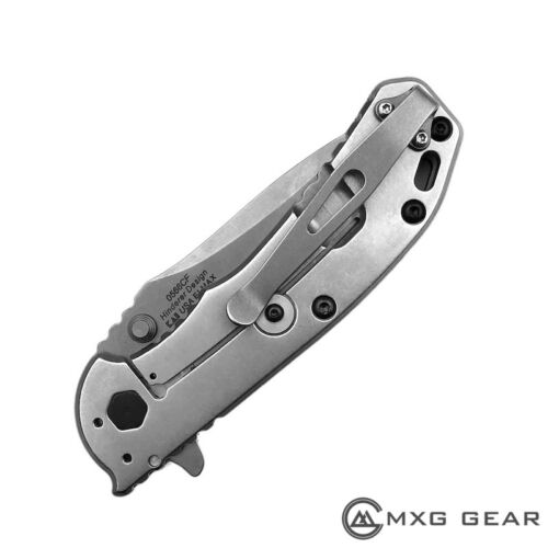 Blue Titanium Deep Carry Pocket Clip Made for Zero Tolerance ZT0566 ZT0566CF