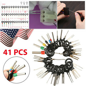 41PCS Car Terminal Removal Tool Kit Wire connector Pin Release Extractor Puller