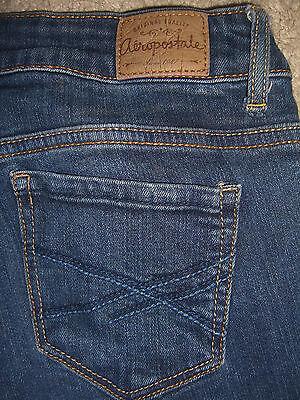 AEROPOSTALE Lola Jegging Stretch Dark Blue Denim Jeans Womens Size 2 Long x 31.5