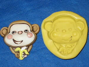 Baby Shower Silicone Molds ~ Monkey silicone mold resin clay candy 293 baby shower chocolate soap