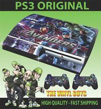 PLAYSTATION 3/PS3 ORIGINAL AVENGERS ASSEMBLE 003 PEGATINA CARCASA & 2 PAD SKINS