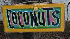 COCONUTS TROPICAL BEACH TIKI BAR HUT POOL PATIO BEACH HOUSE HOT TUB SIGN PLAQUE