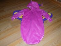 Infant Baby Girls One Size Rubie's Pink Butterfly Halloween Costume Bunting NWOT