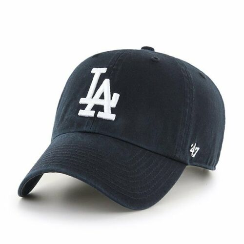 47 BRAND NEW Men/'s Los Angeles Dodgers Cap Black Clean Up BNWT