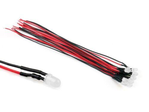 S902-10 pezzi LED 5mm bianco caldo essere diffusa con cavo//trefolo LED per 9-12v